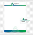 Isolated paper page Company vector image vector image