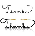 jack connectors thanks calligraphy vector image vector image