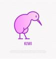 kiwi bird thin line icon vector image