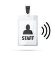 lanyard staff wireless vector image
