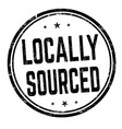 locally sourced sign or stamp vector image vector image