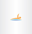 man swim in lake icon logo vector image vector image