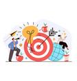 management looking future organization marketing vector image vector image