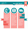 medical infographic template with text fields vector image vector image