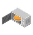 microwave icon isometric style vector image vector image
