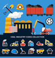mining icons collection vector image vector image