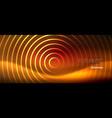 neon glowing techno lines hi-tech futuristic vector image vector image
