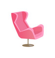 nice modern pink chair banner vector image vector image