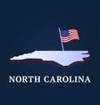 north carolina state isometric map and usa vector image