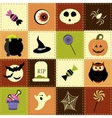 Patchwork background with Halloween elements vector image vector image