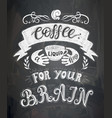 poster with inscription about coffee drinks vector image vector image