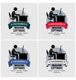 programmer logo design artwork an it vector image vector image