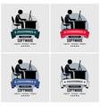 programmer logo design artwork vector image vector image
