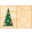 Retro Cut Out Christmas Background vector image