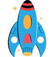 retro rocket children vector image vector image