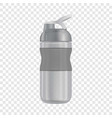 reusable water bottle i mockup realistic style vector image vector image