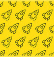 rockets in space seamless pattern vector image vector image