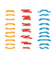 set colorful tapes in flat design ribbons vector image vector image