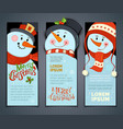 set of vertical christmas banners with cute vector image