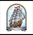 ship tattoo design vector image