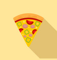 slice pepper pizza icon flat style vector image