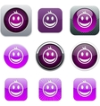 Smiley purple app icons vector image vector image