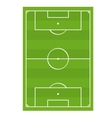 Soccer Football Game Field Top View vector image vector image