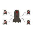 Speaker system in the form of a spaceship vector image