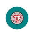 stylish icon in color circle zodiac signs virgo vector image vector image