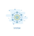 system line concept simple line icon colored vector image vector image