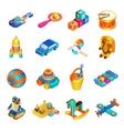Toys Isometric Set vector image