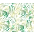Tropical palm tree leaves background vector image vector image