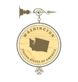 Vintage label Washington vector image