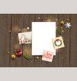 winter holiday blank vector image vector image