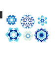 winter kaleidoscopic patterns vector image vector image