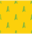 yellow green abstract simple tree seamless repeat vector image vector image