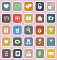 Love flat icons on pink background vector image