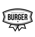 Burger - American Classic Vintage logo vector image