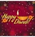 Greeting card for Diwali with diya decoration vector image