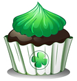 A cupcake with a green icing vector | Price: 1 Credit (USD $1)