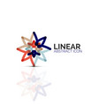 abstract flower or star minimalistic linear icon vector image vector image
