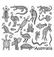 animals drawings aboriginal australian style vector image vector image