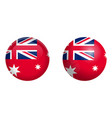 australian red ensign flag under 3d dome button vector image vector image