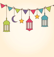 background for ramadan kareem vector image vector image