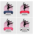 ballet dance logo design artwork of ballerina vector image vector image