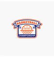 basketball club badge logo-12 vector image vector image