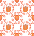 Bear pattern7 vector image