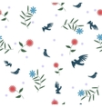Birds with flowers Seamless pattern vector image
