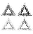 black color triangle frames isolated on white vector image