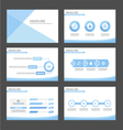 Blue presentation infographic templates set vector image vector image